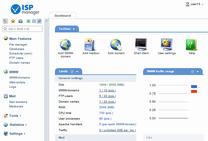 Hospedagem Segura Painel ISPmanager